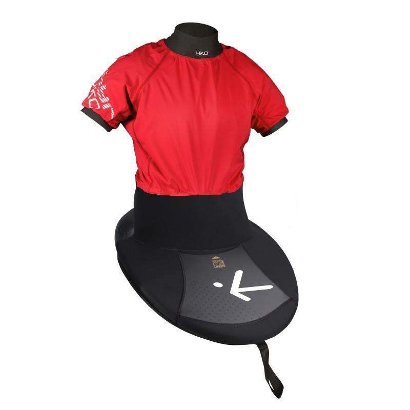 Anorak jupe Zephyr K-flex, manche courte, couleur noir