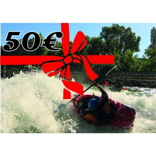Chèque cadeau de 50 euros kayakomania