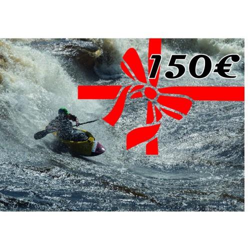 Chèque cadeau de 150 euros kayakomania