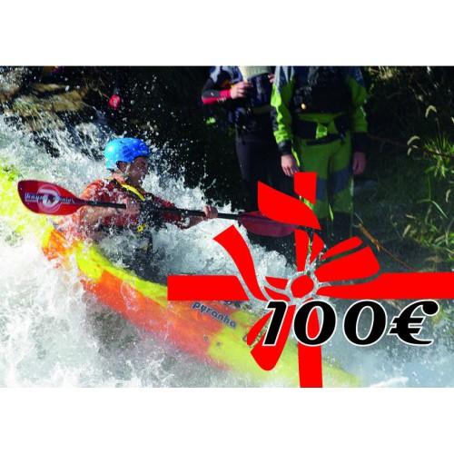 Chèque cadeau de 100 euros kayakomania