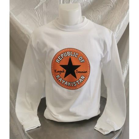 "T-shirt ""Republic of Kayakistan"" manches longues - Kayak Session"