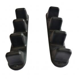 Cale pieds échelle plastique 4 crans pour kayak